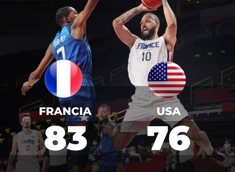 Francia sorprende al Dream Team en Tokio